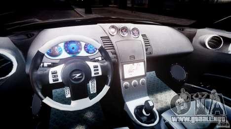 Nissan 350Z Veilside Tuning para GTA 4 vista hacia atrás