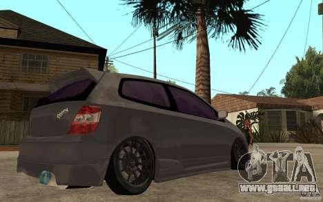 Honda Civic Type-R para la visión correcta GTA San Andreas