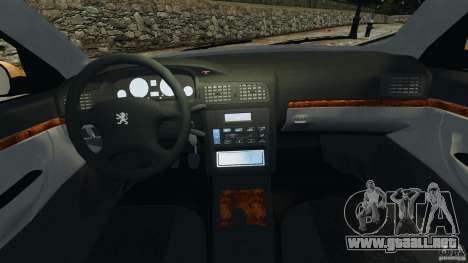 Peugeot 406 Taxi para GTA 4 vista hacia atrás