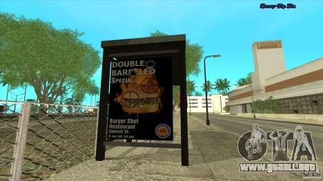 Paradas de autobús en HD para GTA San Andreas segunda pantalla
