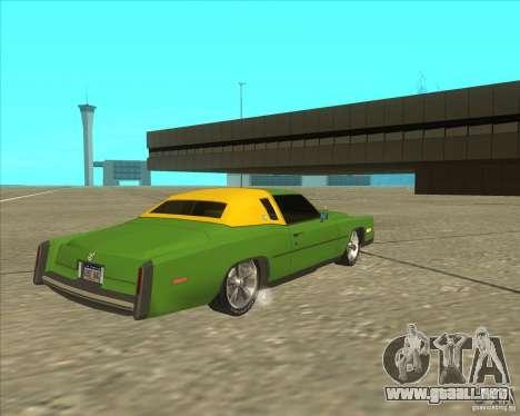 Cadillac Eldorado para GTA San Andreas vista posterior izquierda