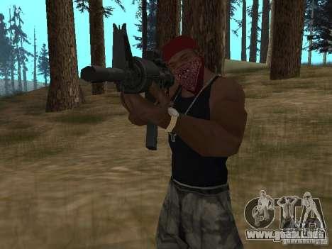 M4A1 para GTA San Andreas sexta pantalla