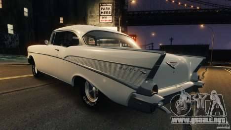 Chevrolet Bel Air Hardtop 1957 Light Tun para GTA 4 Vista posterior izquierda