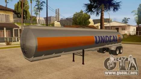 Tanque semi-remolque para visión interna GTA San Andreas