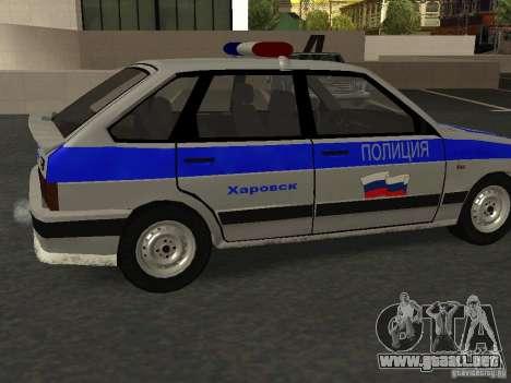 ВАЗ 2114 policía para GTA San Andreas left