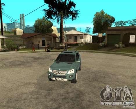 Mercedes-Benz ML 500 para visión interna GTA San Andreas