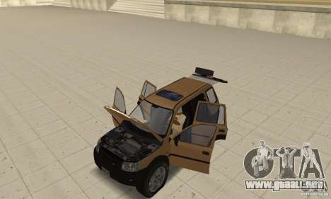 Land Rover Freelander KV6 para GTA San Andreas vista hacia atrás