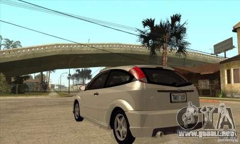 Ford Focus SVT para GTA San Andreas vista posterior izquierda