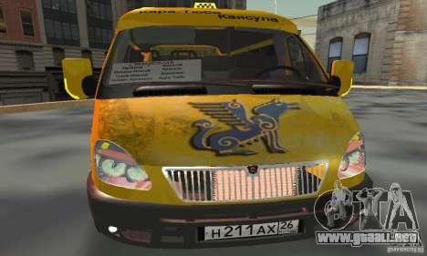 Minibús Gazelle 2705 para GTA San Andreas vista hacia atrás