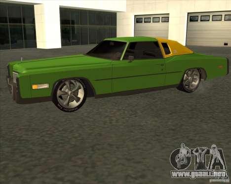 Cadillac Eldorado para visión interna GTA San Andreas