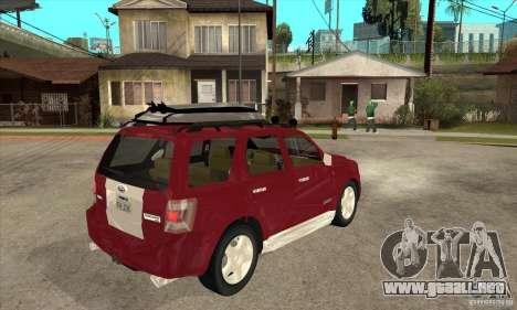Ford Escape 2009 para la visión correcta GTA San Andreas