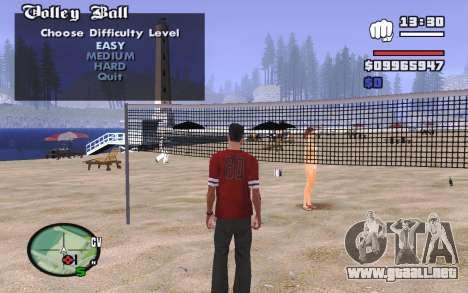 SA Volleyball para GTA San Andreas segunda pantalla