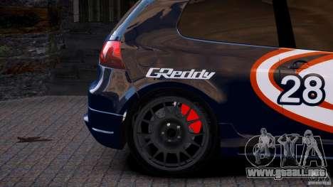 Volkswagen Golf V GTI Blacklist 15 Sonny v1.0 para GTA 4 Vista posterior izquierda