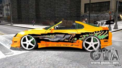 Toyota Supra Fast And Furious para GTA 4 left