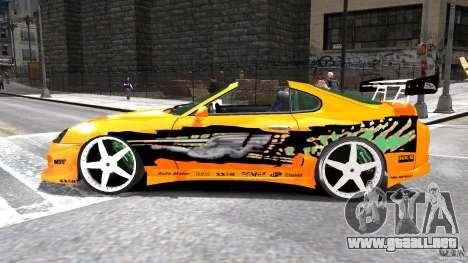 Toyota Supra Fast And Furious para GTA 4 left