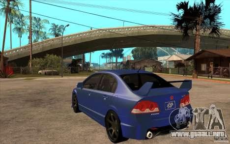 Honda Civic Mugen v1 para GTA San Andreas vista posterior izquierda