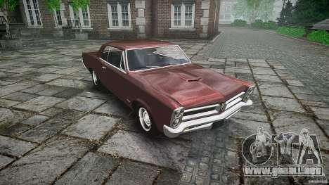 Pontiac GTO 1965 para GTA 4 vista desde abajo
