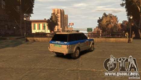 Land Rover Range Rover Police para GTA 4 Vista posterior izquierda