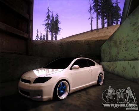 Scion tC Blue Meisters para GTA San Andreas