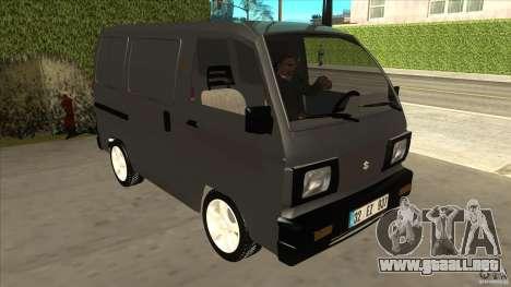 Suzuki Carry Blind Van 1.3 1998 para GTA San Andreas vista hacia atrás