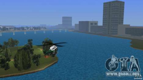 VCPD Chopper para GTA Vice City left