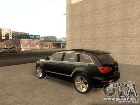 Audi Q7 TDI Stock para GTA San Andreas vista posterior izquierda