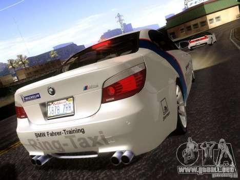 BMW M5 E60 2009 para GTA San Andreas left