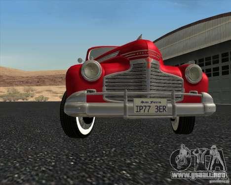 Chevrolet Special DeLuxe 1941 para la vista superior GTA San Andreas
