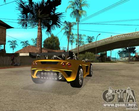 Lotus 2-Eleven para GTA San Andreas vista posterior izquierda
