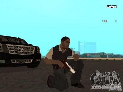 White Red Gun para GTA San Andreas segunda pantalla
