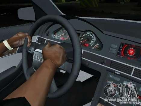 Audi A6 Police para visión interna GTA San Andreas