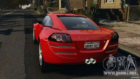 Lotus Europa S para GTA 4 Vista posterior izquierda