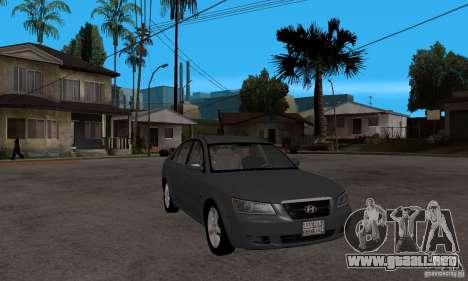 Hyundai Sonata 2008 hd para GTA San Andreas vista hacia atrás