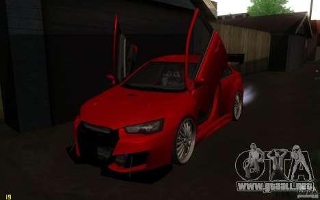 Mitsubishi Lancer EVO X drift Tune para visión interna GTA San Andreas