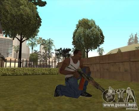 AK-74 con la textura de Metro 2033 para GTA San Andreas tercera pantalla