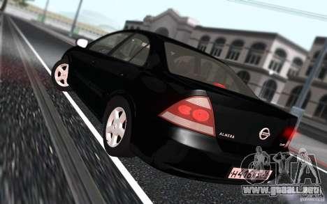Nissan Almera Classic para visión interna GTA San Andreas