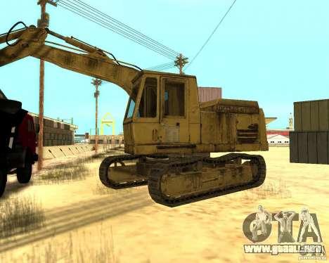 Excavadora para GTA San Andreas left