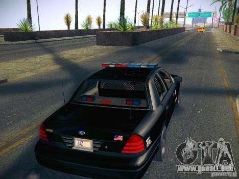 Ford Crown Victoria Police Intercopter para visión interna GTA San Andreas