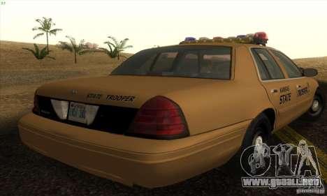 Ford Crown Victoria Kansas Police para GTA San Andreas left