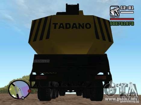 KrAZ-250 MKAT-40 para visión interna GTA San Andreas