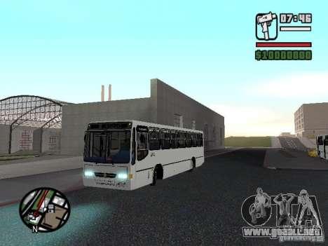Busscar Urbanus SS Volvo B10M para GTA San Andreas left