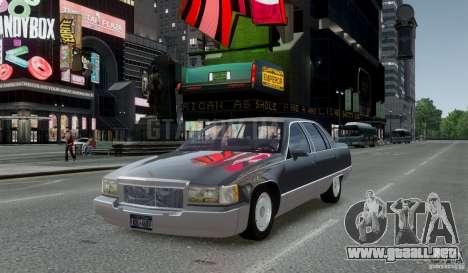 Cadillac Fleetwood 1993 para GTA 4 Vista posterior izquierda