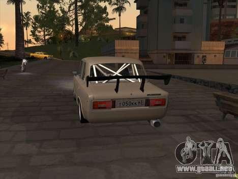 Estilo deriva 2106 Vaz para GTA San Andreas vista posterior izquierda
