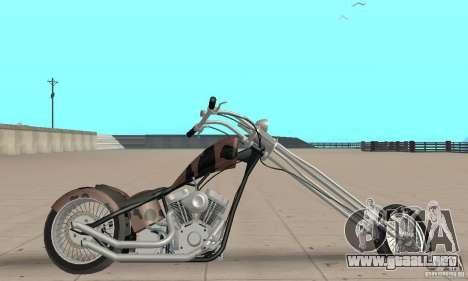 Desperado Chopper para GTA San Andreas vista posterior izquierda
