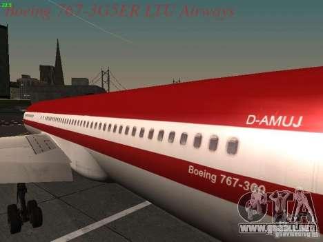 Boeing 767-3G5ER LTU Airways para GTA San Andreas vista hacia atrás