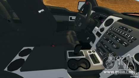 Ford F-150 SVT Raptor para GTA 4 vista desde abajo