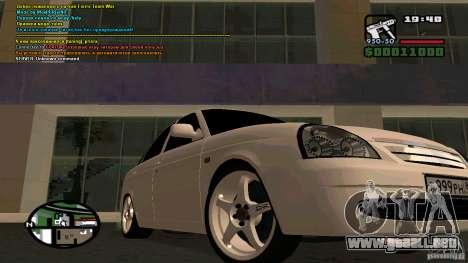 Lada Priora Tuning para GTA San Andreas vista posterior izquierda