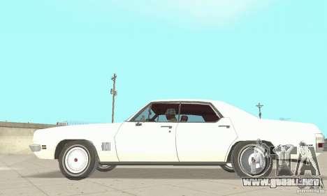 Pontiac LeMans 1971 para GTA San Andreas vista posterior izquierda