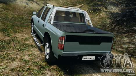 Chevrolet S-10 Colinas Cabine Dupla para GTA 4 Vista posterior izquierda