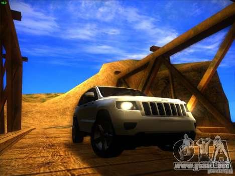 Jeep Grand Cherokee 2012 v2.0 para la visión correcta GTA San Andreas